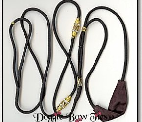 Beaded  Dog Leads-Black/Gold Kindness Lead for Shih Tzu
