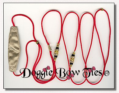 Beaded Dog Leads-Red kindness