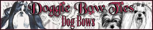 Image: Doggie Bow Ties Dog Bows Banner~Take me!