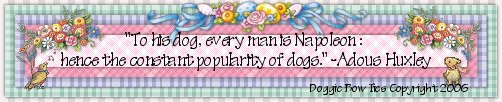 dog bows banner canine quotes