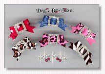 Puppy Dog Bows-Rhinestone Buckle Barrettes Fun-n-Fancy