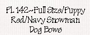Red/Navy Snowman Dog Bows