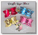 Dog Bows Full Size-Bandana Dog Bows, red, blue, yellow, pink
