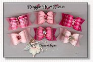 Dog Bows Full Size-Pink Sugar II