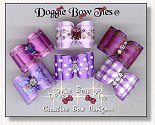 Dog Bows Full Size-Purple assortment