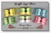 Dog Bows Full Size-Rosebud,yellow, pink, blue