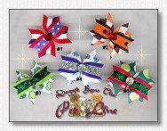 Puppy Dog Bows-Starburst Holiday Jewels