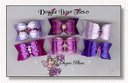 Dog Bows Full Size- Sugar Plum, iris, lilac, grappa
