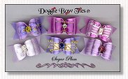 Dog Bows Full Size-Sugar Plum II Dog Bows, iris, lilac, lavender