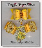 Dog Bows-Fana Cee™ Spun Gold Amber Angel