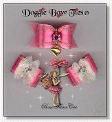 Dog Bows-Fana Cee™ Spun Sugar Rose Heart