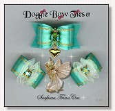 Dog Bows-Fana Cee™ Spun Sugar Seafoam Heart