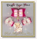 Dog Bows-Fana Cee™ Spun Sugar Pink Angel