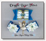 Dog Bows-Fana Cee™ Spun Sugar Baby Blue