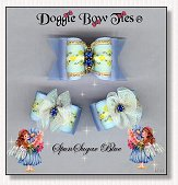 Dog Bows-Fana Cee™ Spun Sugar Blue