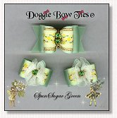 Dog Bows-Fana Cee™ Spun Sugar Green