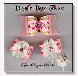 Dog Bows-Fana Cee™ Spun Sugar Pink