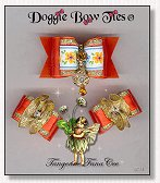 Dog Bows-Fana Cee™ Spun Gold Tangerine Angel