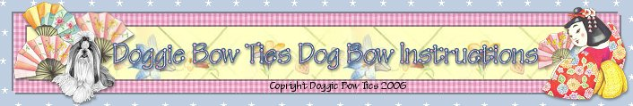 How To Make Dog Bows by Doggie Bow Ties