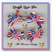 Dog Bows-All American Loopy™, Patriotic