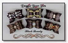 Dog Bows-Black Beauty Satin