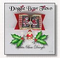 Dog Bow-Red Santa Bow Dangle™