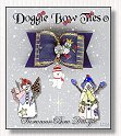 Dog Bow-Navy Blue Snowman Bow Dangle™