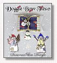 Dog Bow-White and Navy Snowman Bow Dangle™