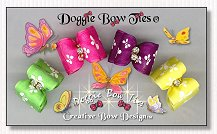 Dog Bows-Organza Butterfly, satin