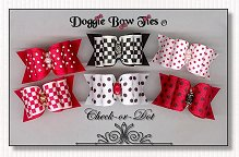 Dog Bows-Check-or-Dot satin