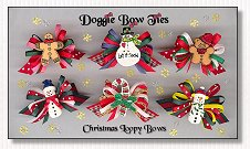 Dog Bow-Christmas Loopy™ , gingerbread, snowman, candy cane