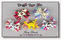 Puppy Dog Bows-Furry Friends Loopy, puppy, bones