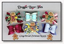 Dog Bow-Gingerbread Christmas Loopy