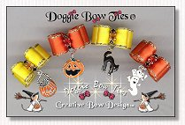 Puppy Dog Bows-Halloween Bow Dangles™ , yellow, orange