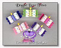 Puppy Dog Bows-Happy Birthday Candle Bows
