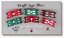 Puppy Dog Bows-Hello Brite Puppy, red, green, black