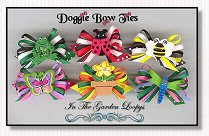 Dog Bows-In The Garden Loopys