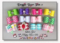 Puppy Dog Bows-Little Girl Puppy
