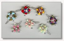 Dog Bows-Petite Flower Clippies