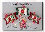 Dog Bow-Silk Poinsettia I Satin full size
