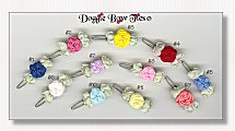 Dog Bows-Single Flower Clippies Barrette