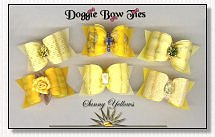 Dog Bows-Sunny Yellows satin