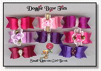 Puppy Dog Bows-Uptown Girl Puppy Satin