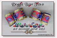 Dog Bows-Fabulous Fakes Blue Lapis