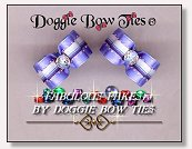 Dog Bows-Fabulous Fakes Blue Streak Diamond