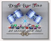 Dog Bows-Fabulous Fakes Blue Topaz