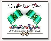 Dog Bows-Fabulous Fakes Emerald