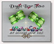Dog Bows-Fabulous Fakes Lime Peridot