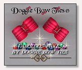 Dog Bows-Fabulous Fakes Raspberry Tourmaline