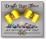 Dog Bows-Fabulous Fakes Yellow Topaz